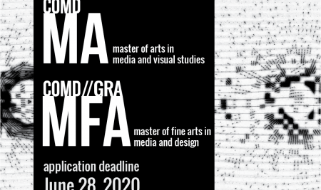 MA in Media and Visual Studies, MFA in Media and Design, Fall 2020