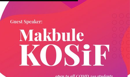 COMD 210 – Introduction to Screenwriting, Guest Speaker: Makbule KOSİF
